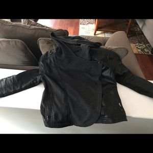 Biker jacket leather/cloth